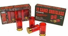 Shotgun Shell Shot Glasses - 4 Pack Shotglass 2 oz - 12g Shot Glass Gun Shells
