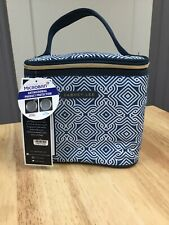 Dabney Lee Insulated Lunch Tote Bag for Hot Cold Food; Navy Blue/White NWT