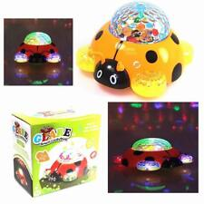 Party Glare Small Light Up Spinning MUSICAL LADYBUG Disco Light Show 360 Degree
