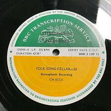 BBC Transcription Service Vinyl LP - Folk Song Cellar 29/30 (CN612/S) 120043-S