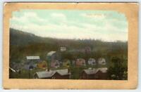 1911 GLEN WHITE WEST VIRGINIA*ECCLES WV POSTMARK*HOUSES*BARNS*GOLD BORDER PC