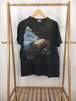 VTG Hanes American Bison Symbol Of The Prairie Single Stitch T-Shirt Size L USA