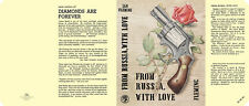 Fleming-Facsimile dust jacket for 1st 1957 UK edition of FROM RUSSIA WITH LOVE