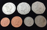 SOLOMON ISLANDS NEW ISSUE 5 DIF UNC COINS SET 2$ 2012 YEAR 10 CENTS