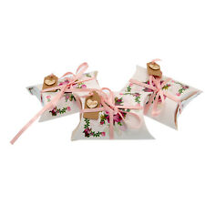 3x Floral Pattern Pillow Gift Boxes & Luxury Rose Scented Heart Bath Bombs-UGS15