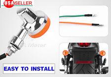 2x Universal Chrome Motorcycle Bullet Turn Signal Indicator Blinker Lights Amber