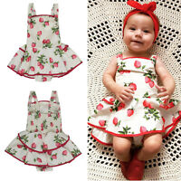 AU Toddler Infant Baby Girls Romper Bodysuit Dress Kid Clothes Tutu Skirt Outfit