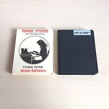 TOUCH TYPIST - CASE, SLEEVE - SINCLAIR QL 1985 - SECTOR SOFTWARE - VGC