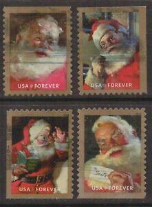 Scott #5332-35 Used Set of 4, Sparkling Holidays (Off Paper)
