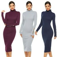 Women's Sexy Party Bodycon Stretchy Slim Dress Ball Gown Evening Sweater Dresses