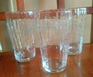 "Vintage 3 3/4"" Block Optic  Crystal Glass Tumbler LOT 3 Bryce ?"