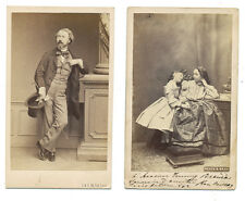Lot of 2 CDV of various photographers, c. 1860-1880,  exc++ A432