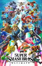 Super Smash Bros Ultimate Anime Poster Silk Wall Decor D-146