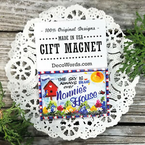 DecoWords Fridge Magnet * NONNIE MAGNET ALL Grandma names Shabby Cottage Style