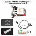 Rcexl 3 Cylinder Radial Engine Ignition CDI for NGK ME-8 1/4 -32 90 Degree 6-12V