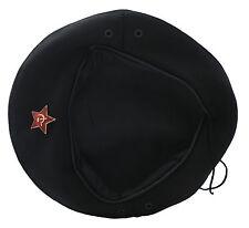 USSR Soviet Russian Army Style Black CHE GUEVARA Beret Hat Cap OMON MVD Badge