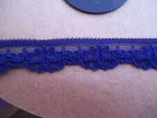 Stretch LACE 5/8 BLUE PURPLE Scalloped Stretch Lingerie Lace Baby Headband 5 yds