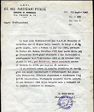 1946 - Associazione Nazionale Partigiani d'Italia - sez. Pinerolo - Documento