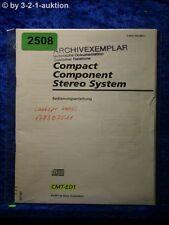 Sony Bedienungsanleitung CMT ED1 Component System (#2508)