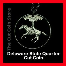 Delaware Cut Coin Necklace First State Independence 25¢ DE Quarter