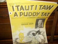 I taut I taw a puddy tat sheet music broadcast by Freddie Sales