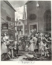 Hogarth Print Reproduction: 'Noon' - The Four Times of the Day: Fine Art Print