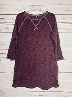 She + Sky Stitch Fix Women's Sz S Small Purple Knit Spring Sweatshirt Tunic Top