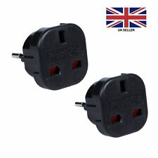 Travel Adapter Converts UK to EU Europe European Converts | Pack Of Two