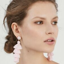 BAUBLEBAR GABRIELA STUD TASSEL EARRINGS-light PINK