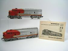Marklin H0 3060 and 4060 Santa Fe Diesel Loc including booklet in used condition