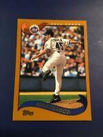 2002 Topps # 182 JOHN FRANCO New York Mets Baseball Card Sharp LOOK !