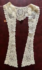 Elegant late 19th C. Brussels Mixed Duchesse Point de Gaze lace collar