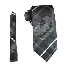 "Mens Design Neck Tie & Hanky Pocket Square Set Medium Width 2.75"" In 7cm By AZAR"