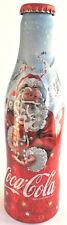 Coca Cola Alu Flasche Bottle Botella Bouteille x-Mas Santa Claus Weihnachtsmann