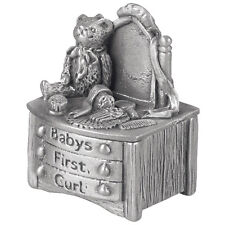 Christening Gift Pewter Dressing Table First Curl Box