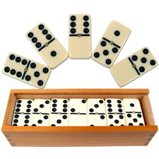 Dominoes Set- 28 Piece Double-Six Ivory Domino Tiles Set, Numbers Table Game