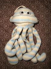J # DOUDOU PELUCHE PIEUVRE POULPE octopus KSD BLANC BLEU BEIGE 27 CMS TBE