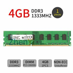 Kingston 4GB DDR3 1333MHz KVR1333D3N9/4G PC3-10600 240Pin DIMM Desktop Memory BT
