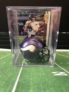 Minnesota Vikings Kirk Cousins Mini Revolution Helmet Shadowbox w/ card