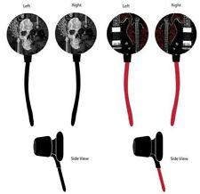 Lot of 2 Skull & Guitars Ear Buds In-Ear Digitat Headphone