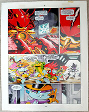More details for sonic the comic #57. original comic art. knuckles; total chaotix, part 5 page 4.
