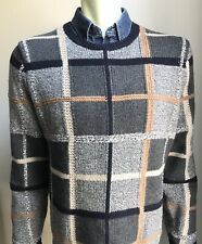 Brooks Brothers Sweater, Highland Plaid, Wool, Large, Exc Cond