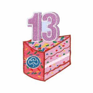 GIRLGUIDING BIRTHDAY BADGES RAINBOW BROWNIE GUIDE Age 13