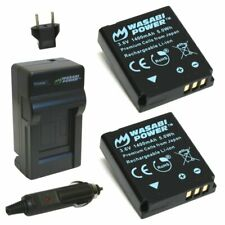 Wasabi Power Battery (2-Pack) and Charger for Kodak LB-080