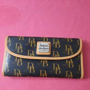 Dooney Bourke Leather & DB Signature Logo Continental Envelope Wallet