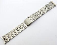 20mm Edelstahl Uhrenarmband mit Faltschließe Rundanstoss Teilpoliert - NEU NEW