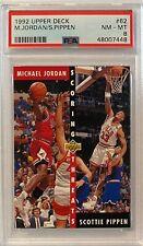 1992 Michael Jordan/Scottie Pippen Upper Deck #62 PSA 8 NM-MT CHICAGO BULLS