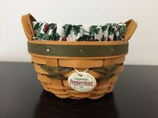 Longaberger 1999 Tree Trimming Peppermint Basket Combo Green Excellent!