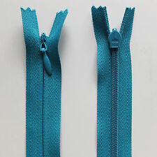 "56cm 22"" Inch Invisible Concealed Long Dress Zip - Alternative to YKK Dark Turquoise"