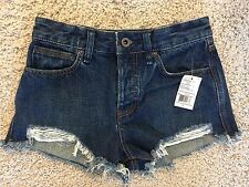 Urban Outfitters Free People Women's SZ 24 Blue Jean Denim Shorts Cut Offs